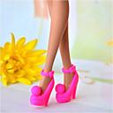 رخيصةأون أغطية أيفون-أحذية الدمية كاجوال إلى Barbie غزل اصطناعي البوليستر PVC أحذية إلى لفتاة دمية لعبة