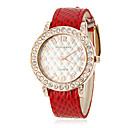 ieftine Colier la Modă-Pentru femei Diamond Watch Quartz Negru / Alb / Roșu Negru Maro Rosu