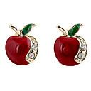 ieftine Ustensile & Gadget-uri de Copt-Pentru femei Cercei Stud Apple femei Lux Modă Ștras Diamante Artificiale cercei Bijuterii Pentru Petrecere Zilnic Casual Sport