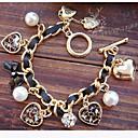 ieftine Cercei-Pentru femei Perle Brățări cu Talismane Inimă Iubire Nod Funda femei Lux European Perle Bijuterii brățară Auriu / Negru Pentru Cadouri de Crăciun Petrecere Zilnic Casual / Imitație de Perle