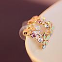 ieftine Produse de Bar-Pentru femei Cristal Cercei Stud Cristal Placat Auriu Diamante Artificiale cercei Bijuterii Curcubeu Pentru Petrecere Zilnic Casual