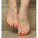 ieftine Bijuterii de Corp-Pentru femei Bijuterii de corp Brățară Gleznă / Sandale Desculț / picioare bijuterii Albastru-argintiu Plin de graţie / femei / Personalizat Aliaj Costum de bijuterii Pentru Cadouri de Crăciun