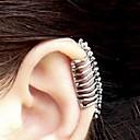 ieftine Carcase Macbook & Genți Macbook & Huse Macbook-Pentru femei Cătușe pentru urechi Cercei cu spirală Metalic strălucitor Craniu Halloween Memento Mori femei cercei Bijuterii Argintiu Pentru Petrecere Zilnic Casual 1 buc