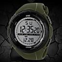 رخيصةأون أساور-SKMEI رجالي ساعة رياضية ساعة المعصم ساعة رقمية رقمي مطاط أسود / أزرق / رمادي 30 m مقاوم للماء المنبه رزنامه رقمي موضة - أسود رمادي أخضر سنتان عمر البطارية / الكرونوغراف / LCD / Maxell626 + 2025