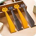 ieftine Papetărie-riglă de lemn formă pisică (culoare aleatorii)