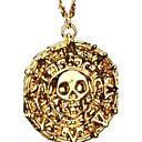 ieftine Coliere-Bărbați Coliere cu Pandativ Monedă Craniu Halloween Calaveras Memento Mori Vintage Aliaj Bronz Auriu Coliere Bijuterii Pentru Cadouri de Crăciun Petrecere Zilnic Casual