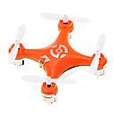 ieftine LED-uri-RC Dronă Cheerson CX-10 RTF 4CH 6 Axe 2.4G Quadcopter RC Zbor De 360 Grade / Cu Susul în Jos De Zbor / Poziționarea Vision Quadcopter RC / Telecomandă / Cablu USB / Planare / CE / Planare