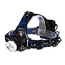 ieftine Frontale-Frontale Becul farurilor Tactic 600 lm LED LED 1 emițători 3 Mod Zbor Tactic Zoomable Focalizare Ajustabilă Multifuncțional / Aliaj de Aluminiu