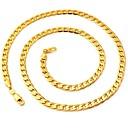 ieftine Îngrijire Unghii-Pentru femei Lănțișoare Figaro lanț chunky Foxtail lanț femei Modă Placat Auriu 18K de aur umplut Coliere Bijuterii Pentru Nuntă Petrecere Zilnic Casual