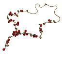 ieftine Cabluri de Adaptor AC & Curent-Pentru femei Red Cora Lănțișoare Vișiniu Fruct femei Modă Teracotă Aliaj Rosu Coliere Bijuterii Pentru Petrecere Zilnic Casual