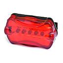 رخيصةأون حافظات / جرابات هواتف جالكسي A-LED اضواء الدراجة ضوء الدراجة الخلفي أضواء السلامة دراجة جبلية الدراجة ركوب الدراجة ضد الماء محمول تحذير سهل التركيب البطارية أخضر - MOON / IPX-4