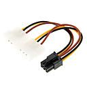 ieftine USB-uri-4 pini Molex la 6 pini PCI-E Adaptor (12cm)