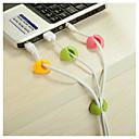 رخيصةأون وسائد-منظم سلك كابل سطح المكتب تحديد مقطع مرتبة شاحن USB حامل الحبل 4 قطع