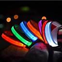 رخيصةأون أطواق ومقاود الكلاب-قط حيوانات أليفة كلب ياقة ياقات تدريب الكلاب أضواء LED كهربائي يضوي ليلاً لون سادة نايلون أزرق زهري قوس قزح
