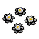 cheap LEDs-ZDM 5PCS 1W 80-100LM  High Brightness Chip, High Power LED Warm White Hight 3000-3500K, Aluminum Substrate  (DC3-3.2V 350mA)