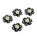 ieftine LED-uri-zdm® 5pcs led de înaltă performanță / led de înaltă performanță albă 6000-6500k 100-120 lm 3 v accesorii pentru becuri din aluminiu / sârmă de aur pur led condus de cip pentru diy led lumina reflectoa