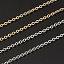 billiga Halsband-Dam Kedje Halsband damer Mode Platina Pläterad Guldpläterad Vitt guld Vit Brun Halsband Smycken Till Bröllop Party Dagligen Casual