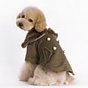 ieftine Becuri Incandescente-Câine Haine Iarnă Îmbrăcăminte Câini Maro Costume Bumbac Mată Keep Warm Modă XS S M L XL