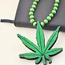 ieftine Lănțișoare Bărbătești-Coliere cu Pandativ De lemn Lemn Rosu Verde Kaki Coliere Bijuterii Pentru Petrecere Zilnic Casual
