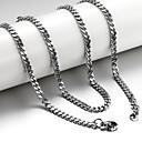 ieftine Jocuri de Masă-Bărbați Lănțișoare Foxtail lanț lanțul franco Mariner Chain Oțel titan Argintiu Coliere Bijuterii Pentru Cadouri de Crăciun Nuntă Petrecere Zilnic Casual Sport