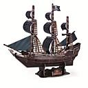 رخيصةأون القلائد-طبعة فاخرة سوبر لغز 3D كبير الحرفية السفينة الكمثرى السوداء DIY 3D نموذج ثلاثي الأبعاد قارب لغز لعبة تعليمية