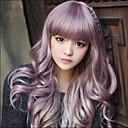 ieftine Moda Lolita-Peruci Sintetice Ondulat Ondulat Cu breton Perucă Lung Mov Păr Sintetic 20 inch Pentru femei Violet