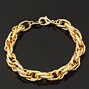 ieftine USB-uri-Pentru femei Brățări cu Lanț & Legături Brățări Bangle ID brățară chunky femei Modă Placat Auriu Bijuterii brățară Colier / brățară / Colier & Bratara Pentru Nuntă Petrecere Ocazie specială Zi de