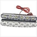 ieftine Alte lumini LED-2pcs Conexiune prin cablu Mașină Becuri 1.2 W SMD LED 250 lm 6 LED Lumini de interior Pentru