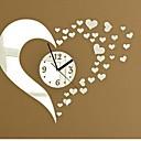 رخيصةأون ملصقات ديكور-ساعة الحائط ملصقات الحائط الشارات ، والأزياء 3d القلب مرآة الاكريليك ملصقات الحائط