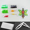 ieftine alte DIY-albine 5mm margele Perler set de siguranțe margele HAMA puzzle DIY (margele de culoare adecvate stabilit + 1 + 1 pegboard călcat hârtie + 1 Penseta)
