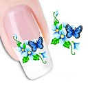 1 pcs 3D Nail Stickers Water Transfer Sticker nail art Manicure Pedicure Flower / Wedding / Fashion Daily