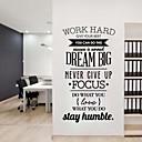 رخيصةأون تزيين المنزل-حلم jubai® اقتباس كبير الجدار ملصق إلهام جدار صائق ، 58 * 95cm 1PC