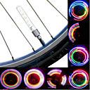 povoljno Svjetla za bicikle-LED Svjetla za bicikle kapica ventila treperi svjetla svjetla kotača Brdski biciklizam Bicikl Biciklizam Vodootporno Prijenosno Upozorenje Jednostavna primjena cell baterije Baterija Biciklizam