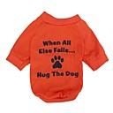 povoljno Odjeća za psa i dodaci-Mačka Pas T-majica Odjeća za psa Prozračnost žuta Kostim Pamuk Pismo i broj XS S M L