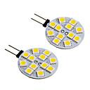 ieftine Becuri LED Bi-pin-2pcs G4 Mașină Becuri 2 W SMD 5050 780 lm 12 LED Lumini de decorare Pentru Toate Modele Toți Anii