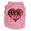 ieftine Imbracaminte & Accesorii Căței-Pisici Câine Tricou Îmbrăcăminte Câini Roz Costume Terilenă Inimă Literă & Număr XS S M L