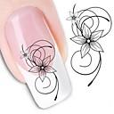 ieftine Instrumente Scris & Desen-1 pcs Aplicația de transfer de apă / Nail Sticker Floare / Decals pentru unghii / Nail Art DIY Tool Accesoriu Nail Art Design