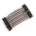 ieftine Conectoare & Terminale-DIY 1-pini de sex masculin la masculin DuPont fire de legătură breadboard (40 buc / 10cm)