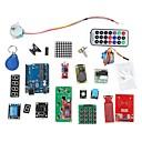 ieftine Cabluri Ethernet-Kit de învățare sistem RFID w / uno R3 pas RFID de motor modul RFID IC carte RFID breloc IC pe baza de Arduino