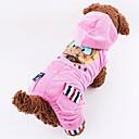 povoljno 3D olovke za ispis-Mačka Pas Kaputi Zakó Zima Odjeća za psa Pink Kava Kostim Velvet Najlon Pamuk XS S M L XL