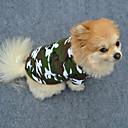رخيصةأون ملابس وإكسسوارات الكلاب-كلب T-skjorte ملابس الكلاب أخضر كوستيوم قطن مموه موضة XS S M L XL XXL