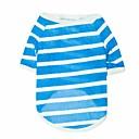 tanie Akcesoria okienne-Kot Psy T-shirt Ubrania dla psów Oddychający Czerwony Niebieski Szary Kostium Bawełna Pasek XS S M L