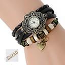 ieftine Ceasuri Personalizate-femei cadou personalizate trei straturi folie pu brățară din piele gravate analog ceas cu stras