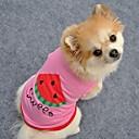 povoljno Muški satovi-Mačka Pas T-majica Odjeća za psa Plava Pink Kostim Pamuk Voće Pismo i broj Cosplay XS S M L