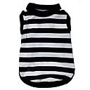 ieftine Imbracaminte & Accesorii Căței-Pisici Câine Tricou Îmbrăcăminte Câini Negru / Alb Costume Terilenă Dungi Inimă XS S M L
