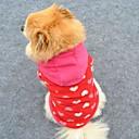 رخيصةأون ملابس وإكسسوارات الكلاب-قط كلب هوديس الصوف هوديي الشتاء ملابس الكلاب وردي كوستيوم القطبية ابتزاز قلب موضة XS S M L