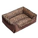 رخيصةأون ملصقات ديكور-عش سرير دمية في مربع أزياء ليوبارد الكلب دافئ للكلاب م 58 * 45 * 14