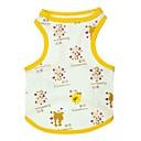 رخيصةأون Sony أغطية / كفرات-قط كلب T-skjorte ملابس الكلاب أصفر كوستيوم قطن حيوان كارتون XS S M