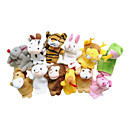 cheap Puppets-Finger Puppets Puppets Cute Novelty Lovely Cartoon Textile Plush Girls' Toy Gift 12 pcs