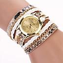 ieftine Cercei-Pentru femei Ceas Brățară ceasul cu ceas Quartz Wrap Piele PU Matlasată Negru / Alb / Albastru Analog femei Casual Modă - Rosu Roz Albastru Deschis Un an Durată de Viaţă Baterie / Tianqiu 377